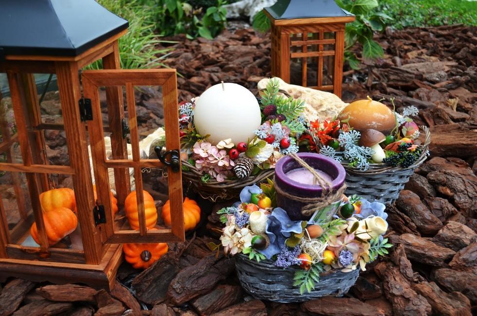 Aranžmán Jesenný košíček