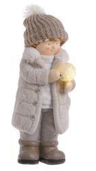 Chlapček so svietiacou snehovou guľou XXL