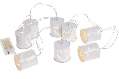 Dekoračné lampášiky Srdiečka/  vtáčiky