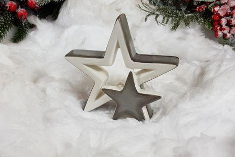 Keramické hviezdičky Grey