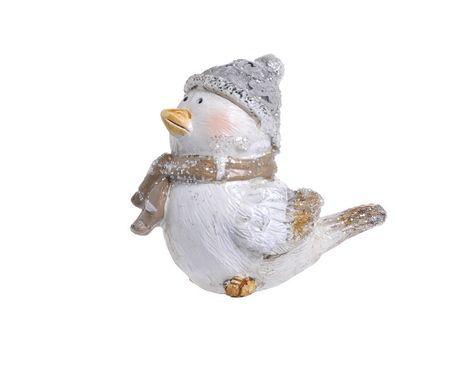 Keramický vtáčik s čiapočkou