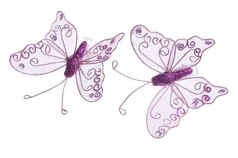 Motýl na štipci mix