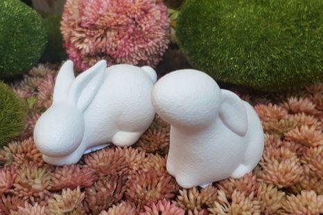 Set keramických Bunnies White 2ks