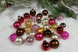 Set sklenené vianočné gule 20-24ks 25mm