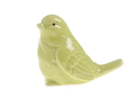 Zelený keramický vtáčik